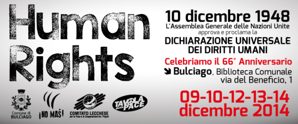 Human Rights - 10 dicembre 2014 - banner